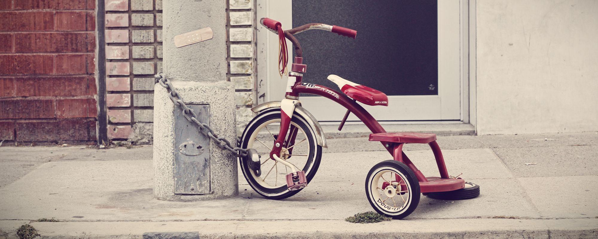 Tricicleta cu antifurt.